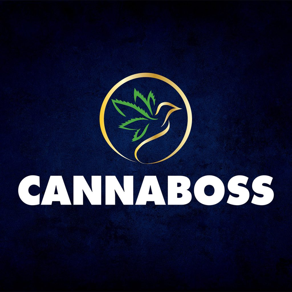 CannaBoss Logo Blue Background